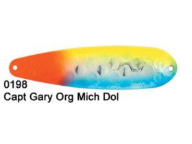 Dreamweaver Spoon Magnum Capt Garys Orange Mich Dolphin (M0198)